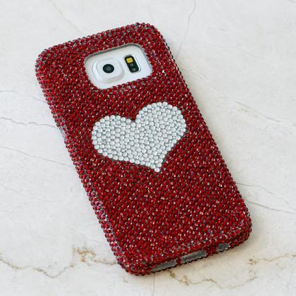 Bling Heart Genuine Red Crystals Ca..