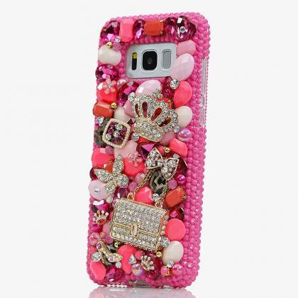 Pink Princess Diamond Gold Crown Pu..
