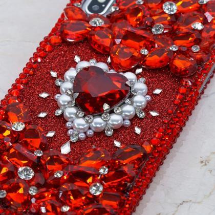 Bling Bright Red Gem Stones Genuine..