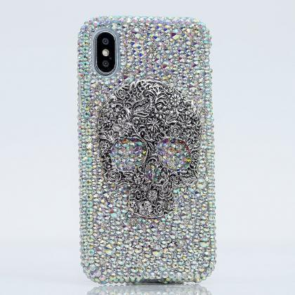 Bling Skull Genuine AB Crystals Dia..