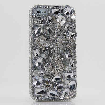 Bling Crystals Phone Case for iPhone 6 / 6s, iPhone 6 / 6s PLUS, iPhone 4, 5, 5S, 5C, Samsung Note 2, Note 3, Note 4, Galaxy S3, S4, S5, S6, S6 Edge, HTC ONE M9 (DIAMOND CROSS DESIGN) By LuxAddiction