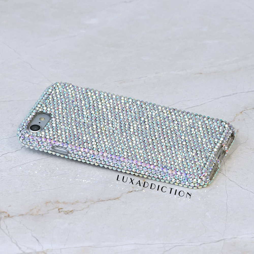 iPhone 8 case iPhone 7 case iPhone 7 / 8 Plus Case Made With Genuine Aurora Borealis Crystals Diamond Bling Easy Grip Cover