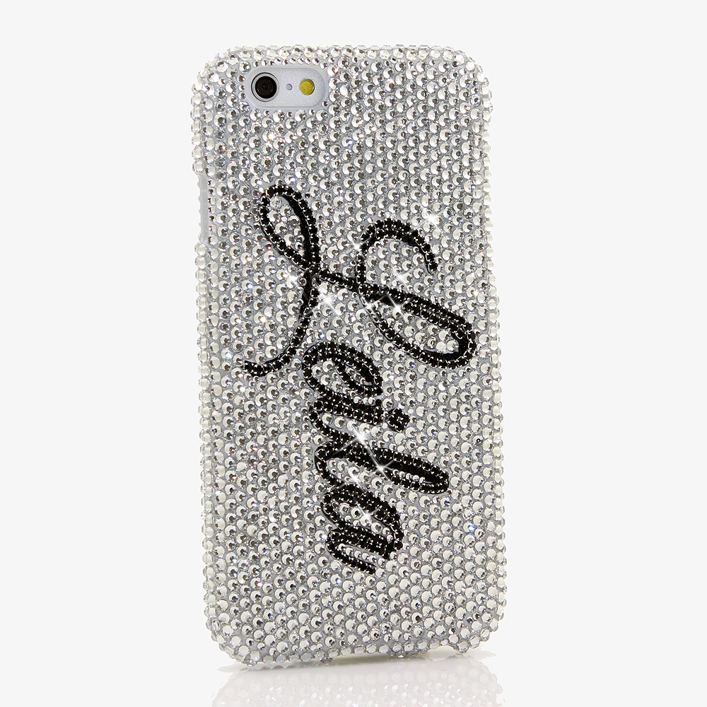 Bling Crystals Phone Case for iPhone 6 / 6s, iPhone 6 / 6s PLUS, iPhone 4, 5, 5S, 5C, Samsung Note 2, Note 3, Note 4, Galaxy S3, S4, S5, S6, S6 Edge, HTC ONE M9 (PERSONALIZED NAME & INITIALS DESIGN) By LuxAddiction
